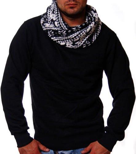czarna bluza z gwiazdkami na kołnierzu